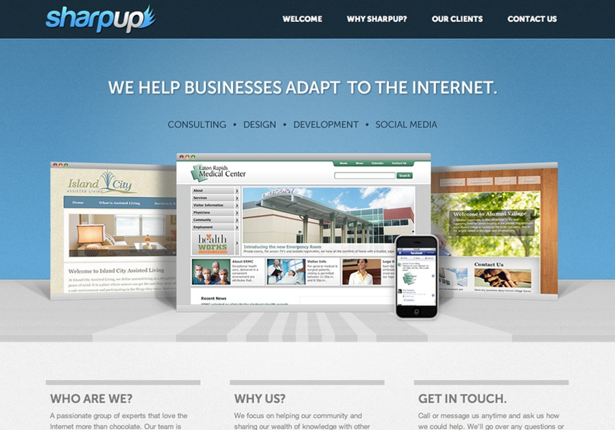 A great web design by Sharpup, Lansing, MI: