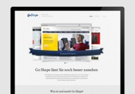 A great web design by Go Shape, Ulm, Germany:
