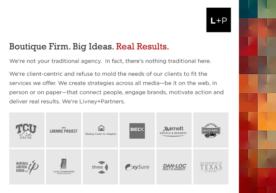 A great web design by Livney+Partners, Dallas, TX: