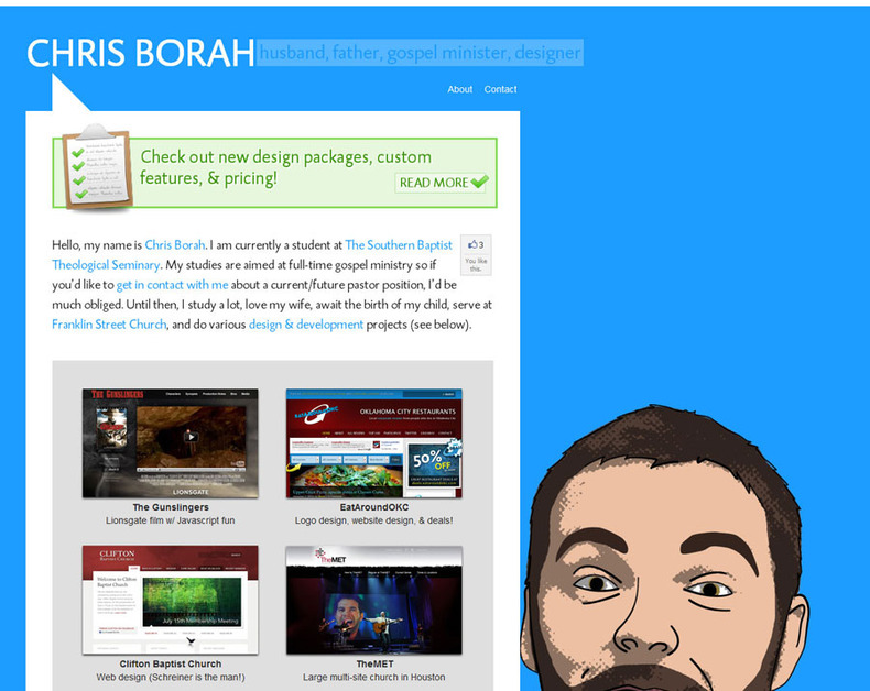 A great web design by Chris Borah Web Design, Louisville, KY: