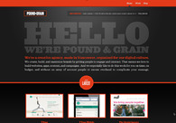 A great web design by Pound & Grain, Vancouver, Canada: