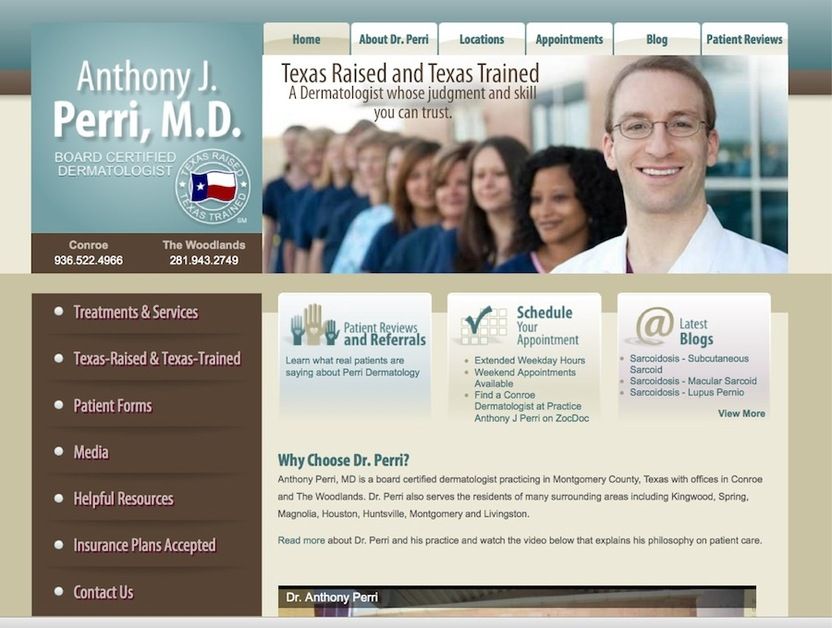 A great web design by 30 Degrees North, LLC, Houston, TX: