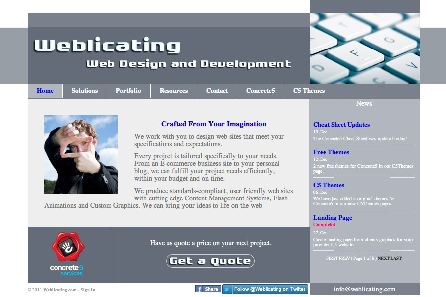 A great web design by Weblicting.com, Boston, MA: