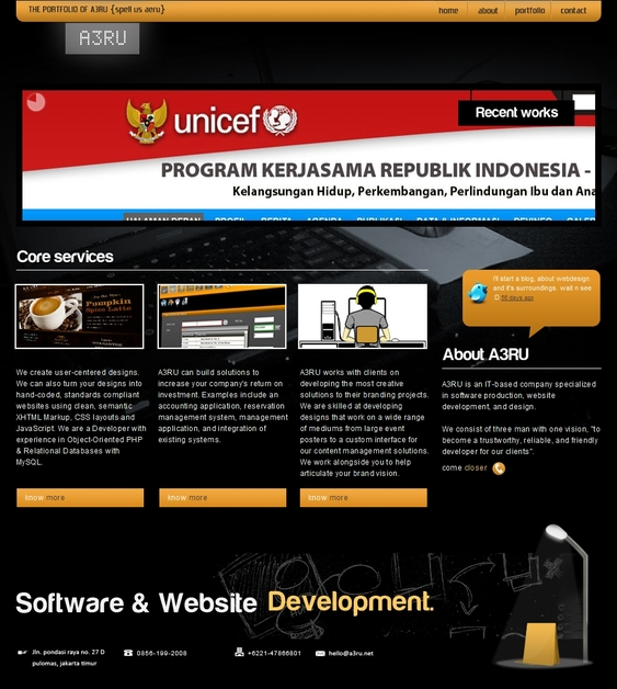 A great web design by A3RU, Bekasi, Indonesia:
