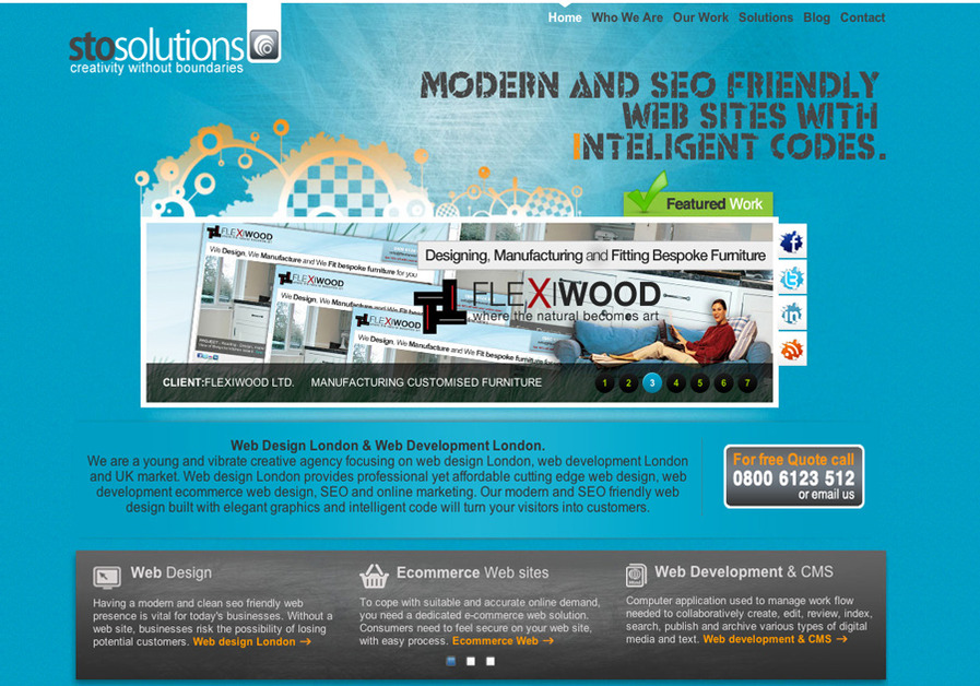 A great web design by StoSolutions, Central London, United Kingdom: