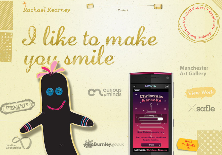 A great web design by Rachael Kearney, Manchester, Chile: