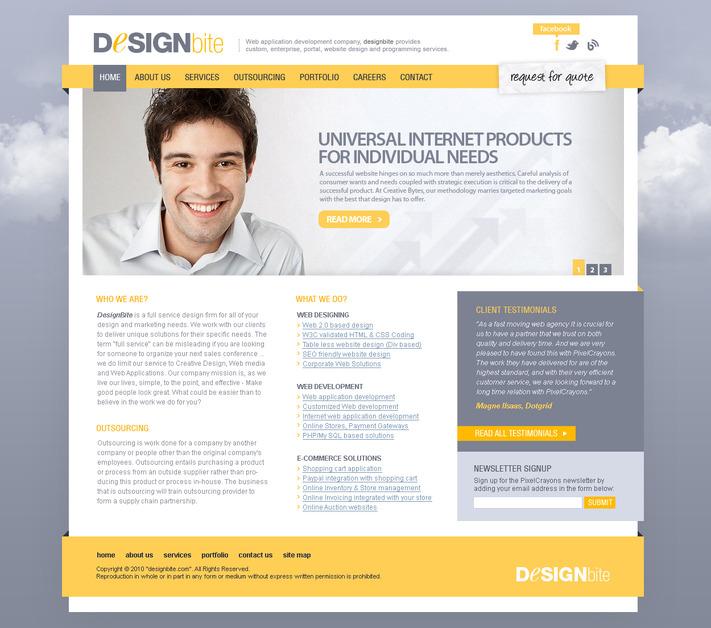 A great web design by Design Bite, New Delhi, India: