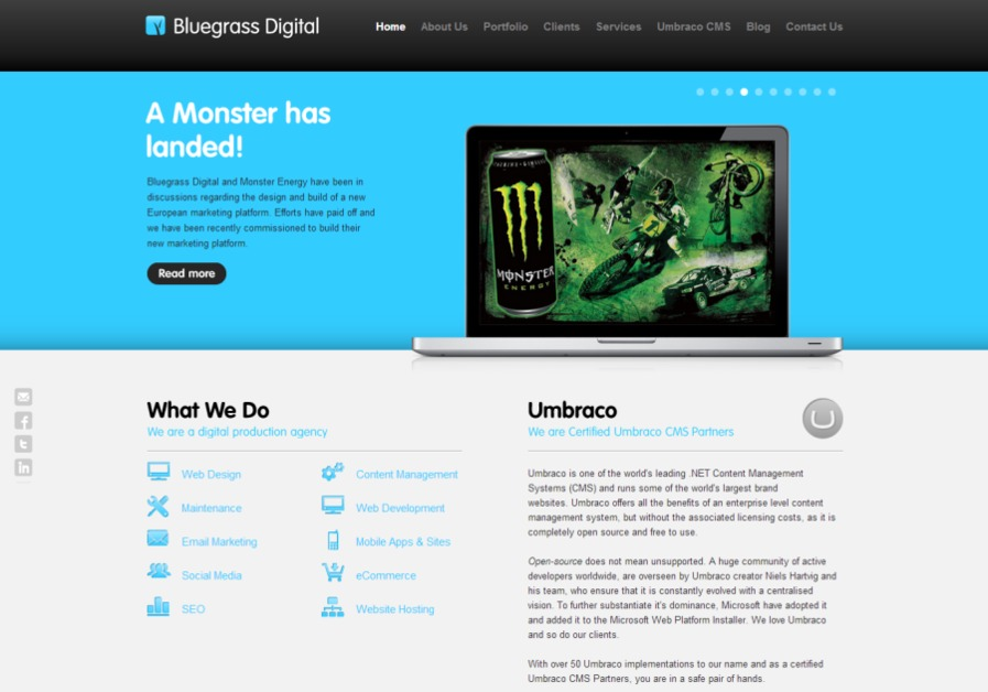 A great web design by Bluegrass Digital, Central London, United Kingdom: