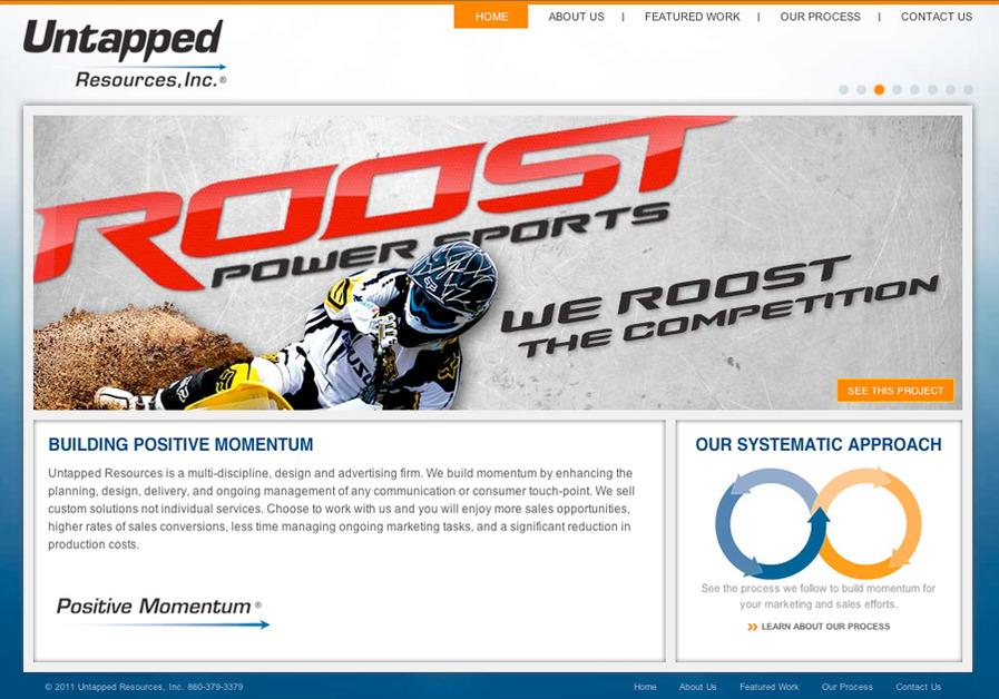 A great web design by Untapped Resources, Inc., Hartford, CT:
