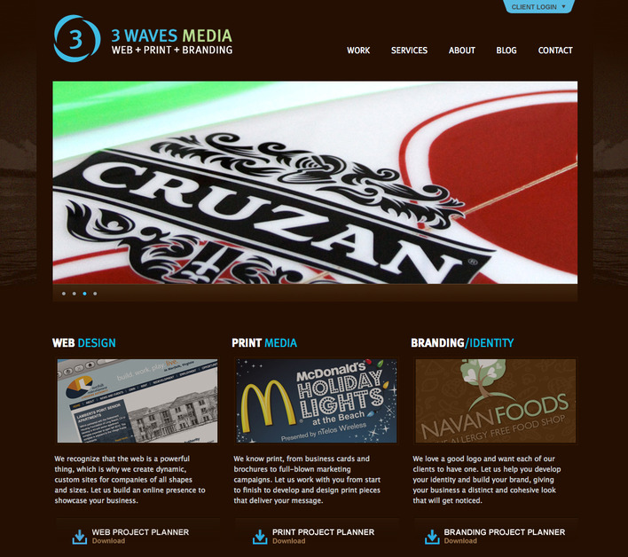 A great web design by 3 Waves Media, Virginia Beach, VA: