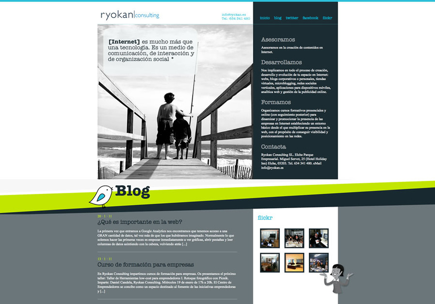 A great web design by Ryokan Consulting SL, Alicante, Spain: