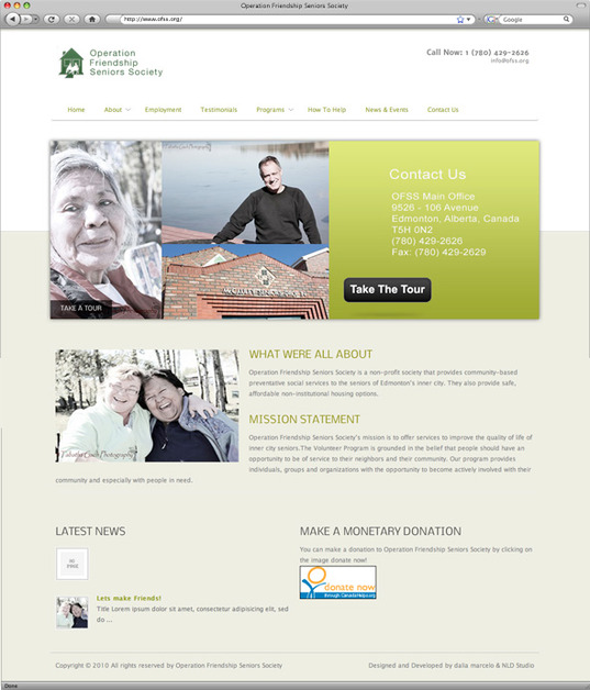 A great web design by Northern Lightning Design, Edmonton, Canada: