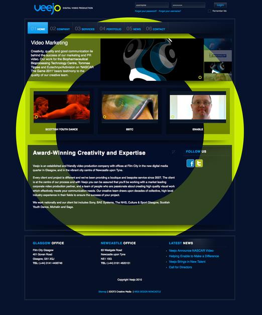 A great web design by EDOT3, Newcastle, United Kingdom: