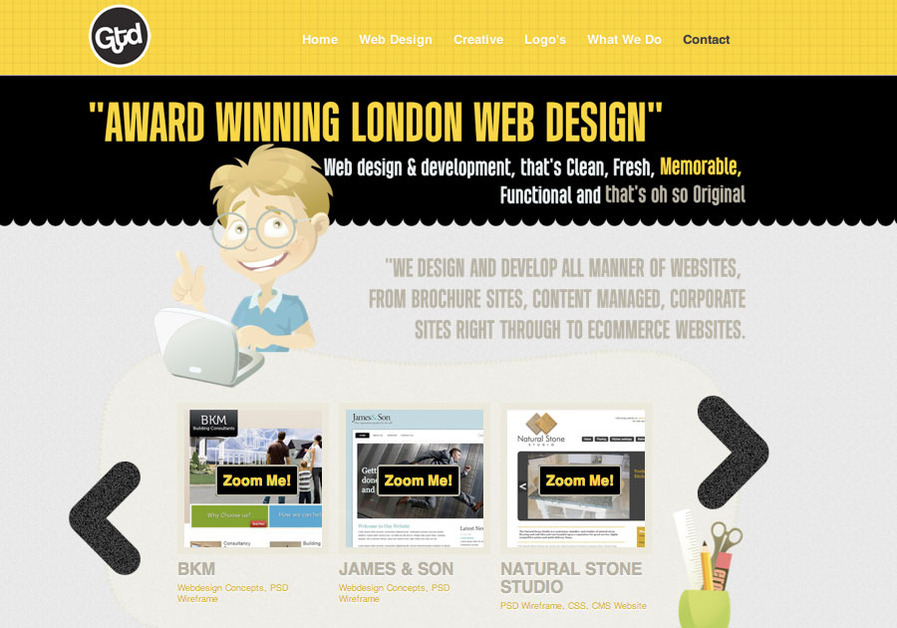 A great web design by Gothink Design, London, United Kingdom: