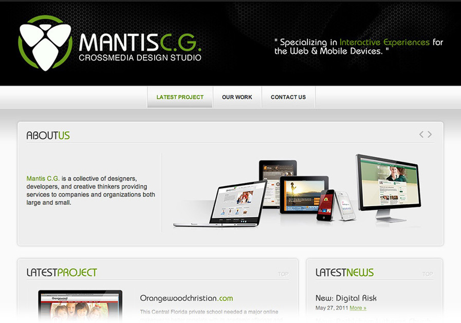 A great web design by Mantis Creative Group, Orlando, FL: