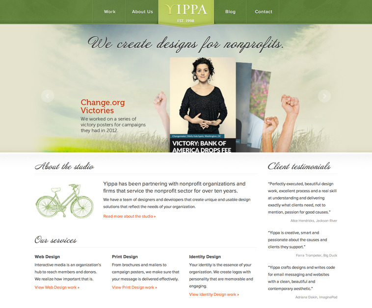 A great web design by Yippa, Seattle, WA:
