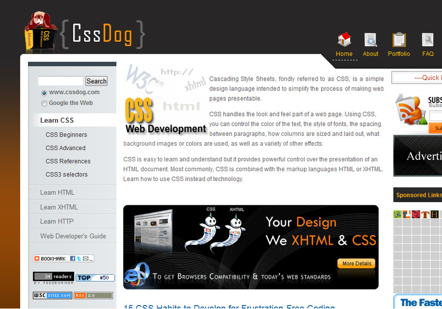 A great web design by cssdog , Hyderabad, India: