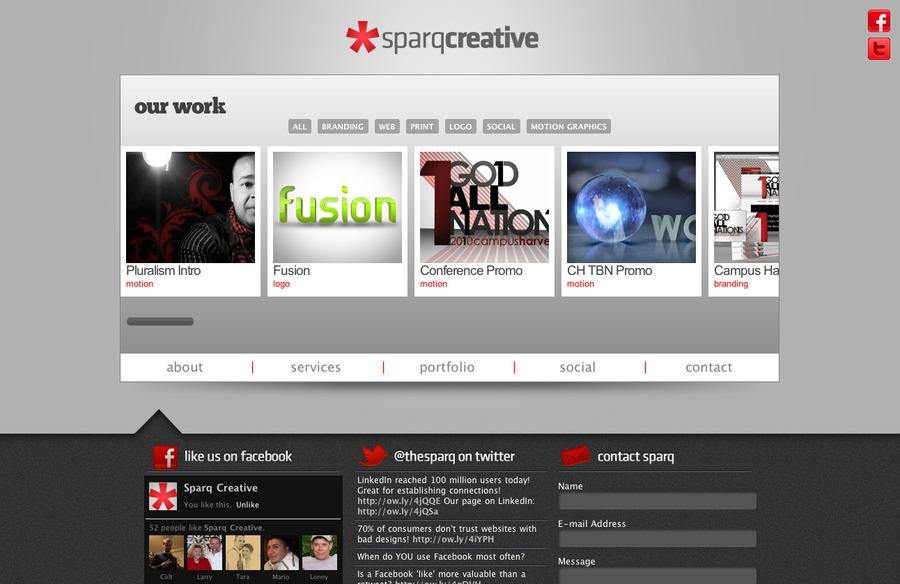 A great web design by Sparq Creative, Dallas, TX: