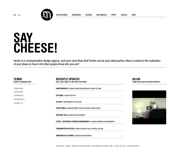 A great web design by tembo, Turin, Italy: