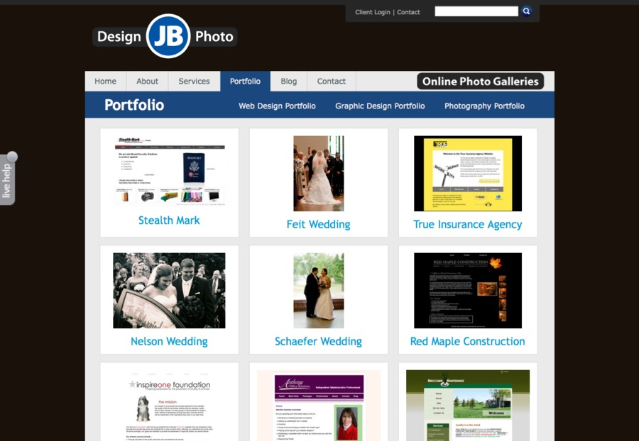 A great web design by JB Design and Photo, Minneapolis, MN: