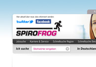 A great web design by Jobbörse Spirofrog.de, Munich, Germany: