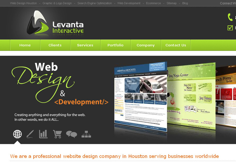 A great web design by Levanta Interactive, Houston, TX: