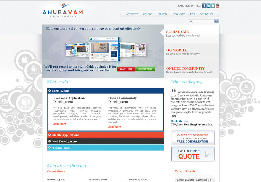 A great web design by Anubavam LLC, San Antonio, United States Minor Outlying Islands: