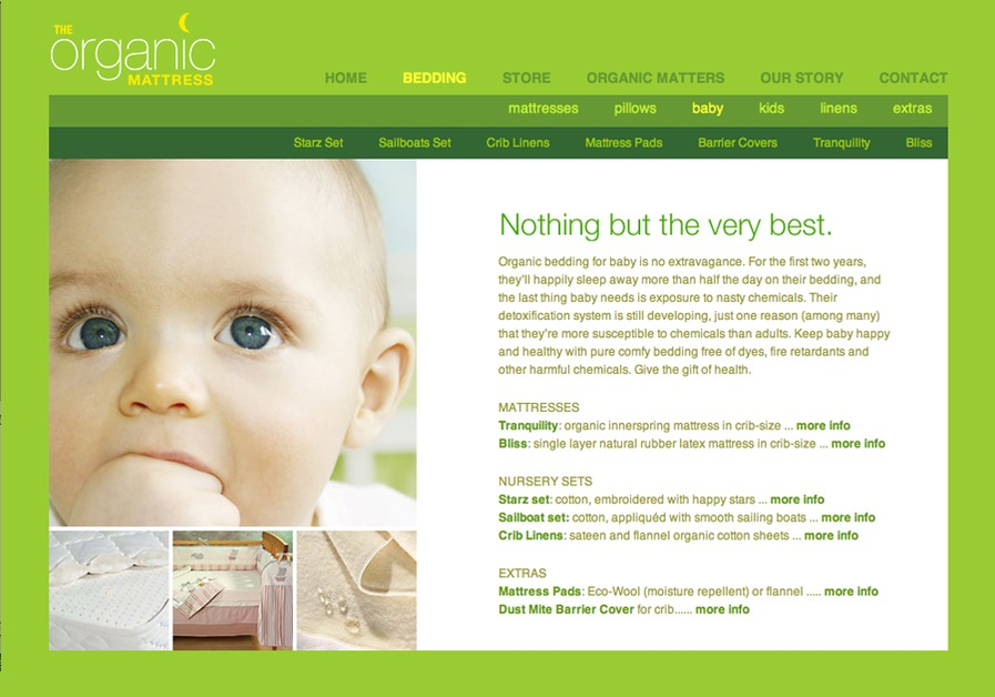 A great web design by Dolce Design, Montreal, Canada: