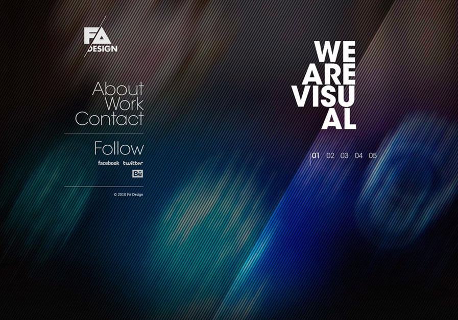 A great web design by FA Design Studio, Barcelona, Spain: