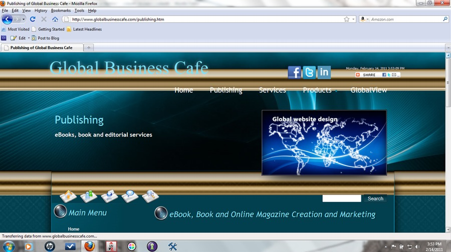 A great web design by Global Business Cafe, Houston, TX: