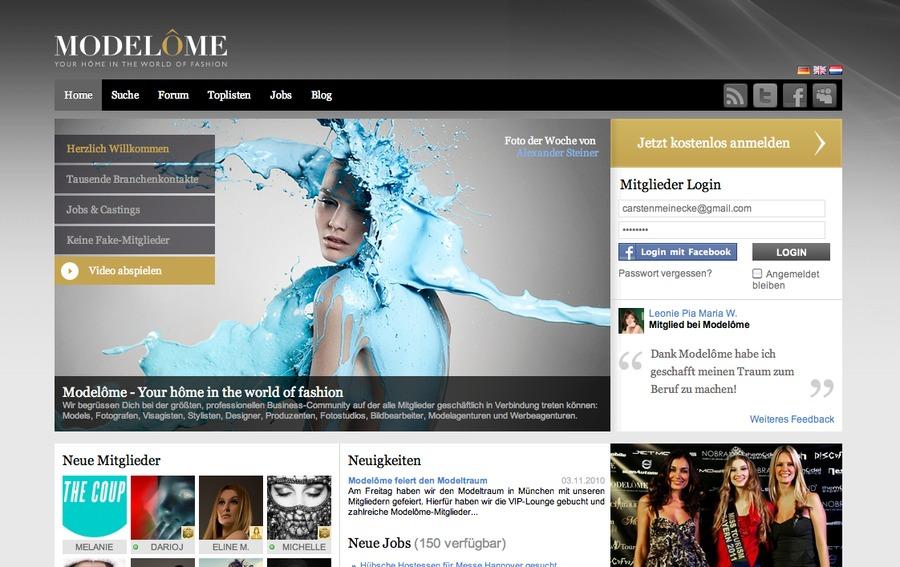 A great web design by Visionex, Munich, Germany: