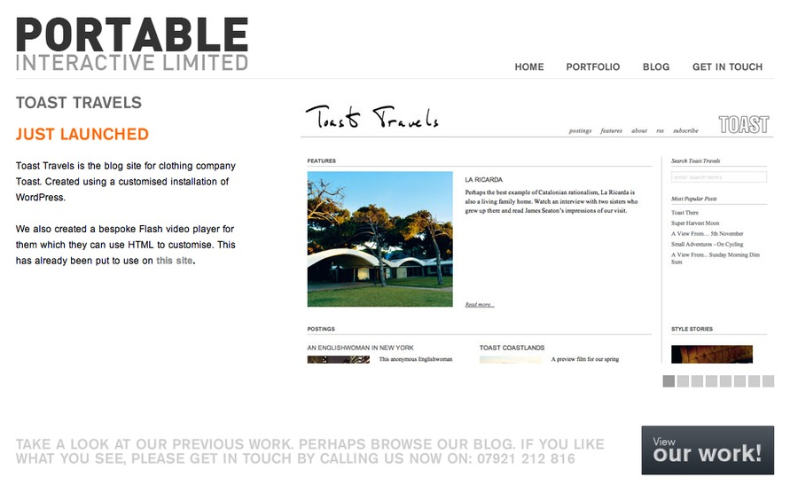 A great web design by Portable Interactive Limited, London, United Kingdom: