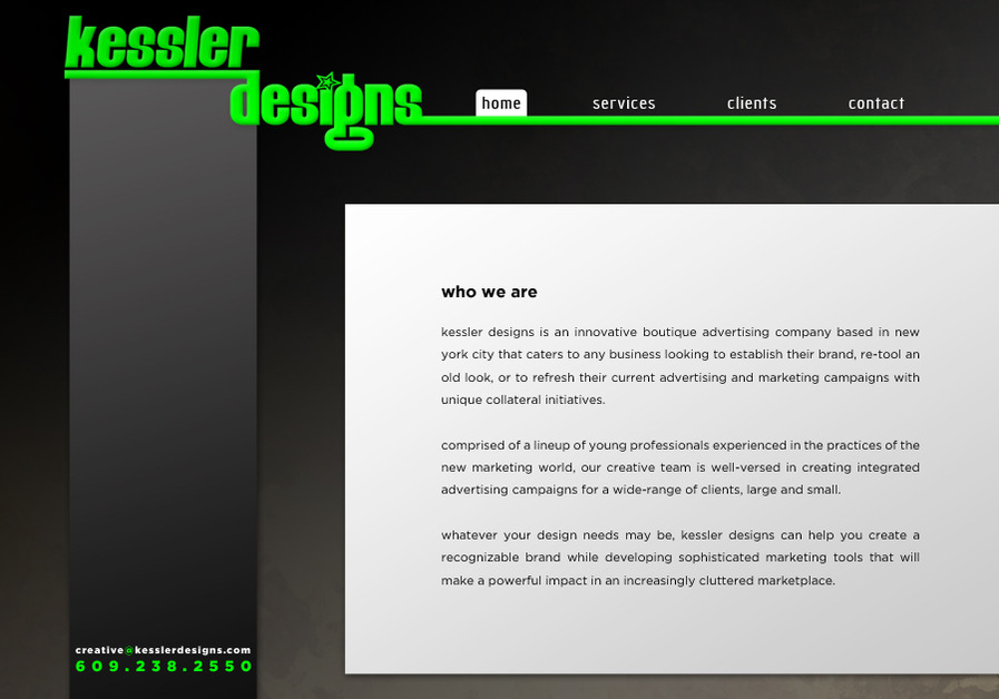 A great web design by Kessler Designs, New York, NY: