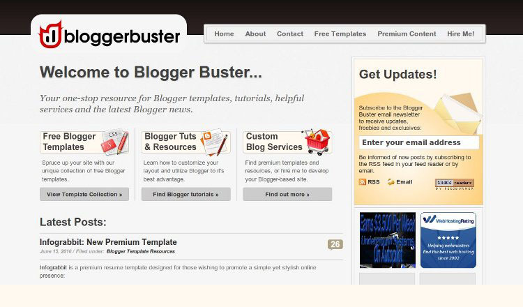 A great web design by Blogger Buster, Sheffield, United Kingdom: