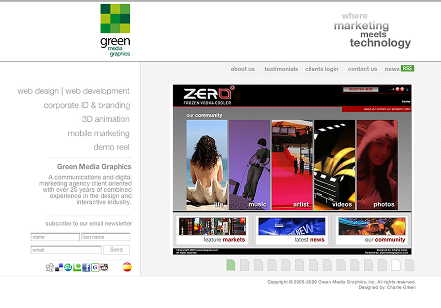 A great web design by Green Media Graphics, Miami, FL: