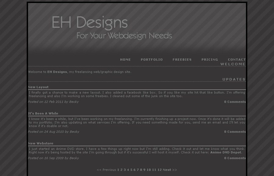 A great web design by EH Designs, Albany, NY: