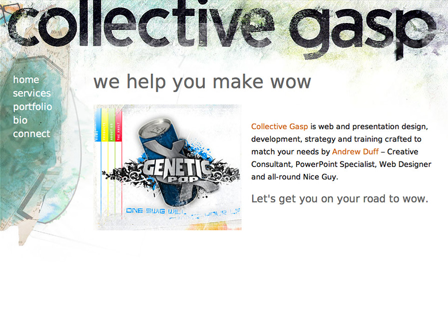 A great web design by Collective Gasp, Toronto, Canada: