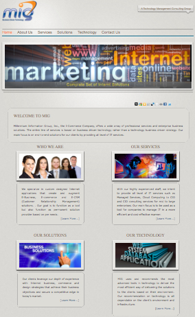 A great web design by MILLENNIUM INFORMATION GROUP, West Palm Beach, FL: