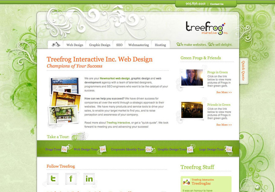 A great web design by Treefrog Interactive Inc., Newmarket, Canada: