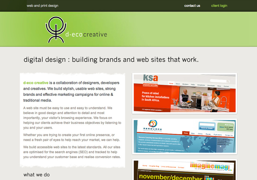 A great web design by d-eco creative, Cape Town, South Africa:
