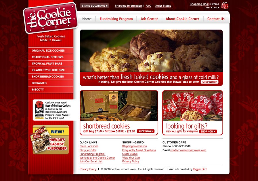 A great web design by Bigger Bird Creative, Inc., Honolulu, HI: