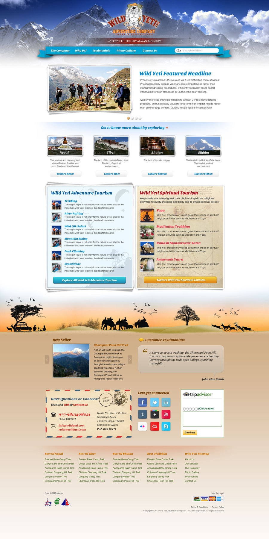 A great web design by Chandan Chaurasia, Bengaluru, India: Website, Marketing Website , Travel , PHP