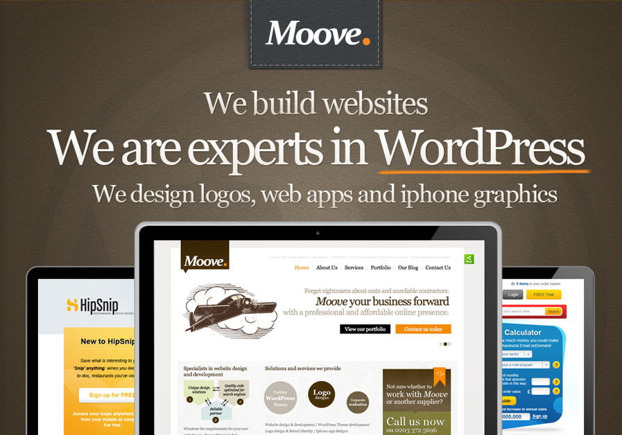 A great web design by Moove Agency, London, United Kingdom: