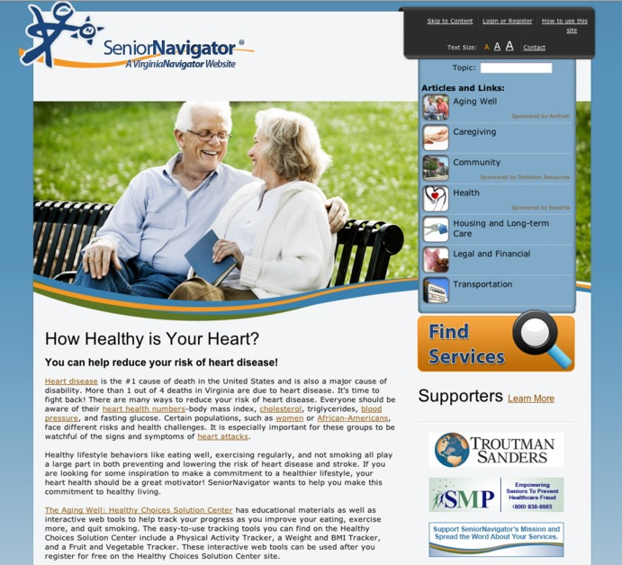 A great web design by V4 Web, LLC., Richmond, VA: