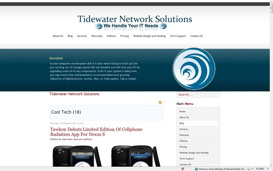 A great web design by Tidewater Network Solutions, Portsmouth, VA: