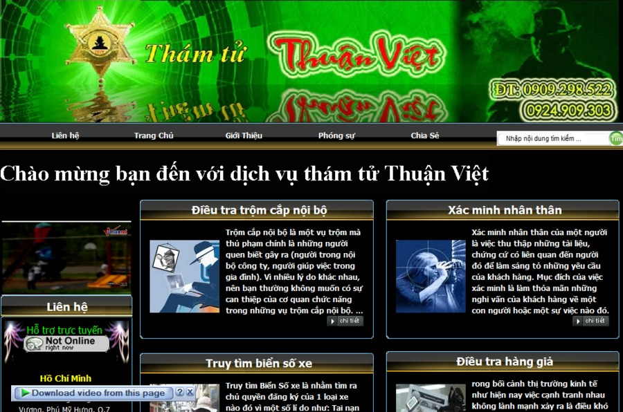 A great web design by Hongphuc Group, Bienhoa, Viet Nam: