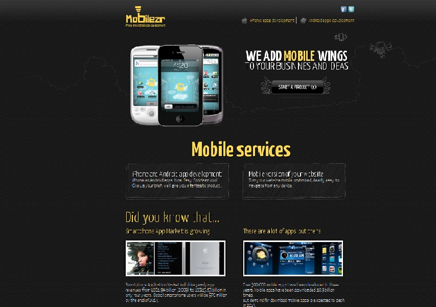 A great web design by Mobile ZR, Milano, Italy: