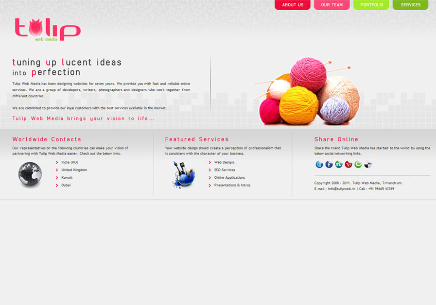 A great web design by Tulip Web Media, Trivandrum, India: