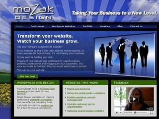 A great web design by Mozak Design LLC, Portland, OR: