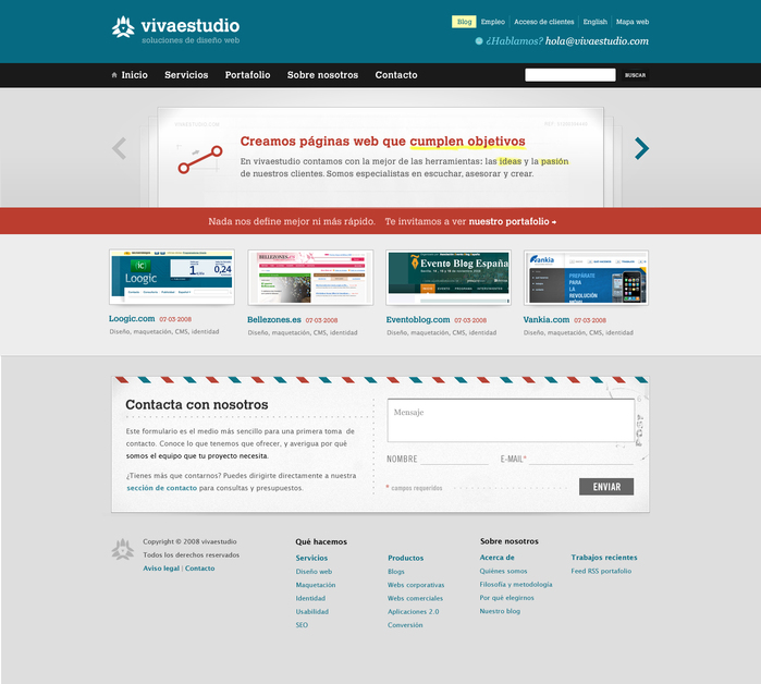 A great web design by vivaestudio, Oviedo, Spain: